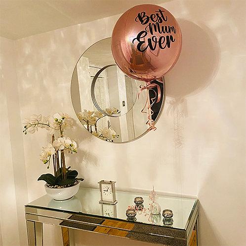 Best Mum Ever Orbz Balloon helium filled