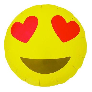 Heart Eye Emoji 18 inch Foil Balloon