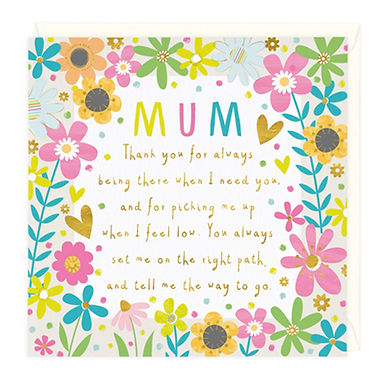Thank You Mum Mother's Day Card