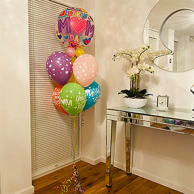 'Happy M(heart)M Day' Balloon Bouquet Helium Filled