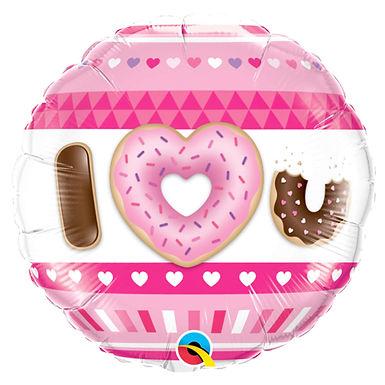 I Love You Donut 18 inch Foil Balloon