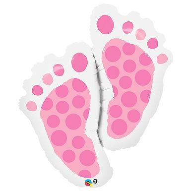 Baby Girl Pink Feet Supershape Balloon