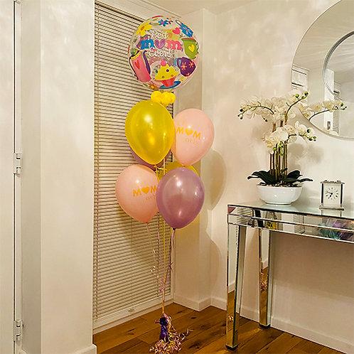 Best Mum Ever Balloon Bouquet Helium Filled