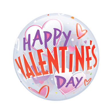 Happy Valentine's Day Hearts Bubble Balloon