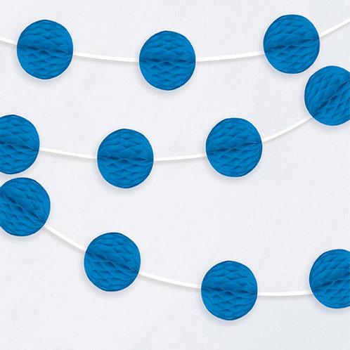 Dark Blue Honeycomb Garland