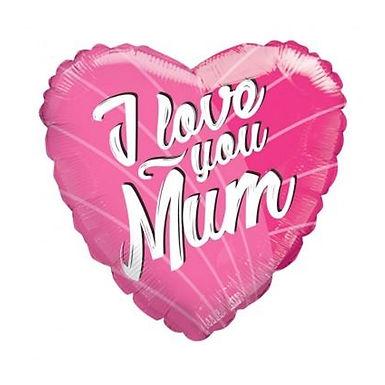 I Love You Mum Foil Balloon