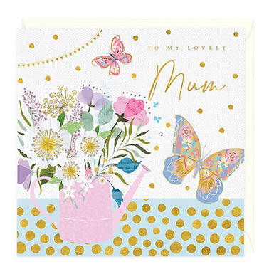 Flowers and Butterflies Mother's Day Card