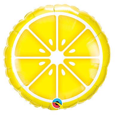 """Sliced Lemon 18"""" Foil Balloon Helium Filled"""