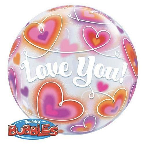 Love You Buble Balloon