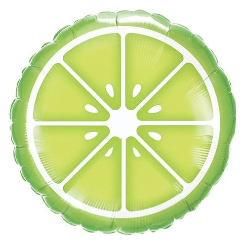 """Sliced Lime 18"""" Foil Balloon Helium Filled"""