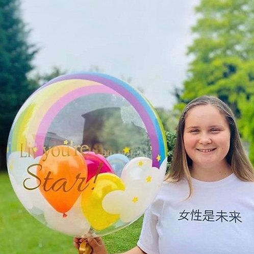 Rainbow Gumball Bubble Balloon