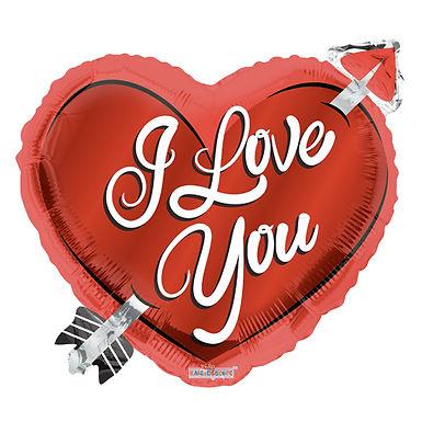 I Love You 18 Heart Foil Balloon