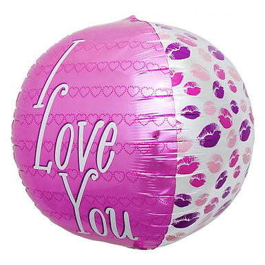 I Love You Large Round Balloon