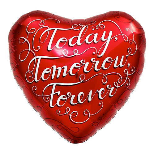 Today Tomorrow Forver 18 inch Heart Foil Balloon