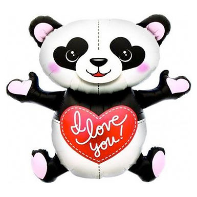 I Love You Panda Supershape Balloon