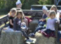 kids fall hayride