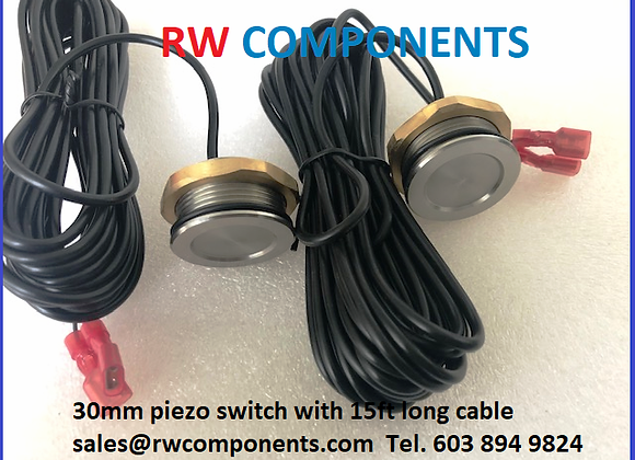 30mm Piezo Switch with 15ft Cable