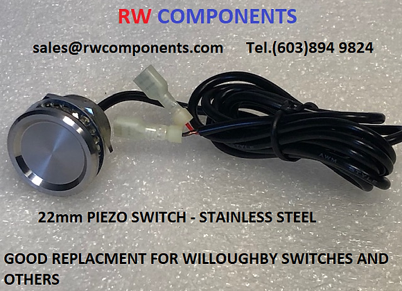 22mm Piezo Switch Replacement for Willoughby Switches