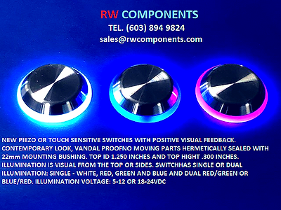 RWCOMPONENTS 12mm ip68 ip69 metal momentary piezoelectric anti vandal touch sensitive vandal proof custom low voltage resistive httm push button waterproof sensor piezoelectric effect illuminated push button 16mm 22mm presser switch stainless steel capacitive switch push button cp 16mm flat head tact switch LED PIEZO SWITCH TOUCH SENSITIVE SWITCH IP69