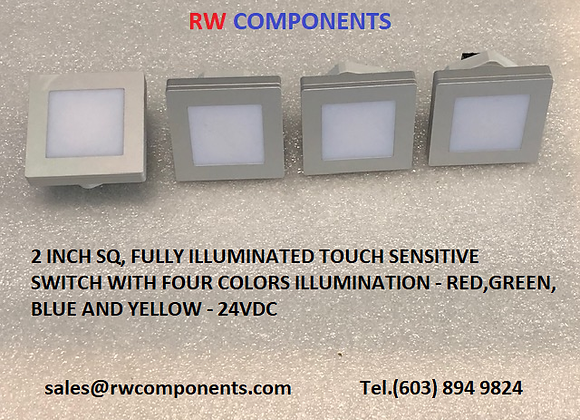 4 Color LED Illumination Touch Switch
