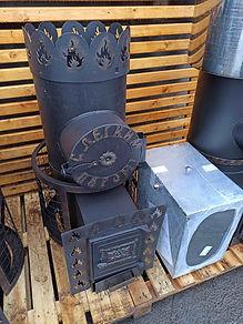 Печь для бани Феникс 15 с теплообменником и баком