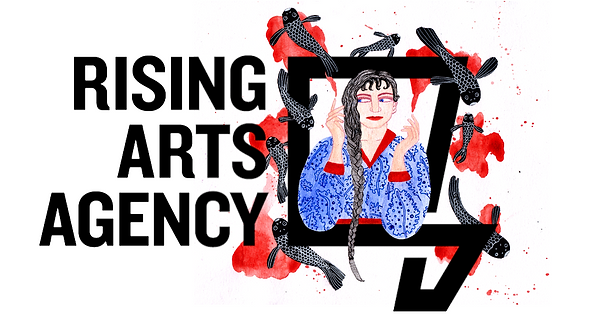 Rising Arts Agency Logo Illustration 1.P