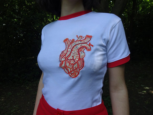 Embroidered Heart shirt