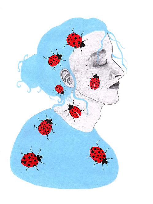 Lady Bird - A4 Print