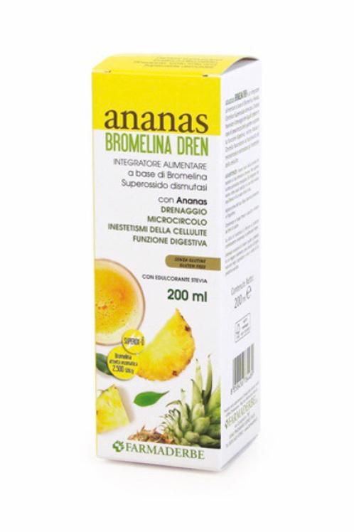 Ananas Bromelina Dren