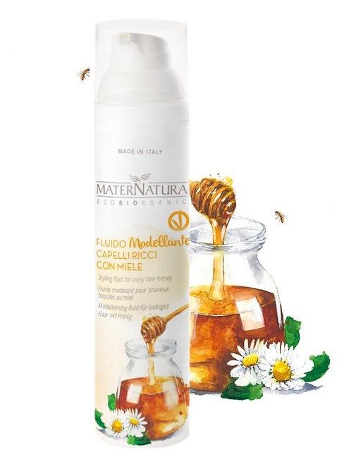 Fluido modellante capelli ricci con miele