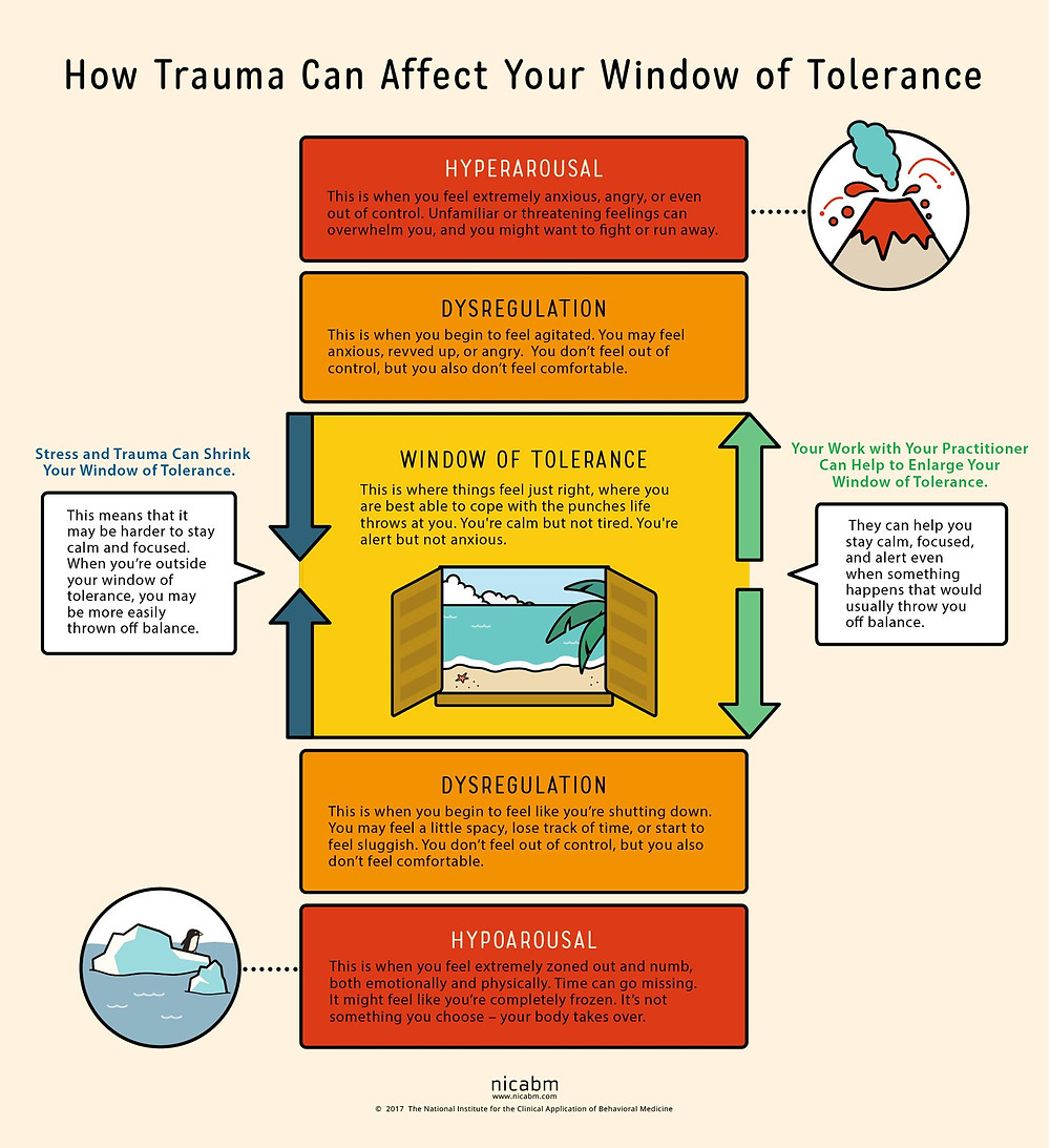 How Trauma can Affect Your window of Tolerance Inforgraphic