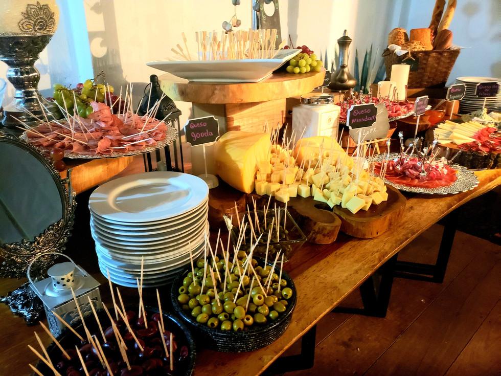 mesa de quesos para eventos