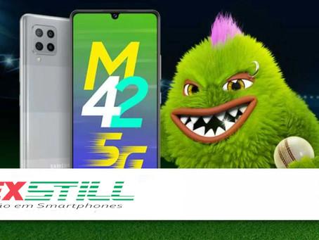 Samsung lança Galaxy M42, celular de entrada com 5G: