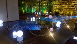 decoración esferas de luz