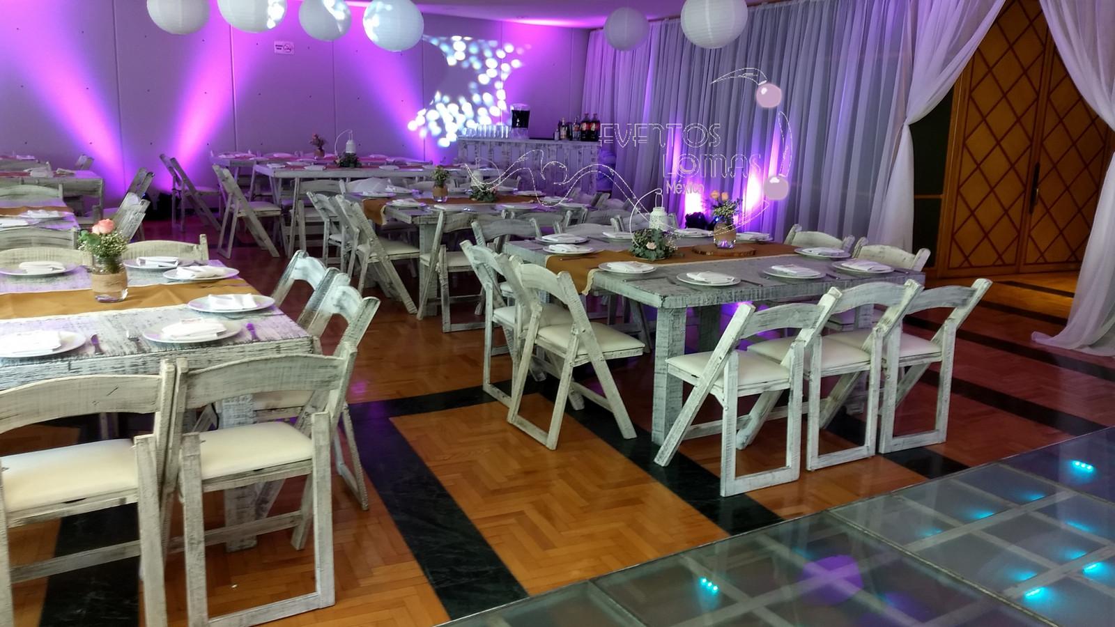 Mesas y sillas cuajimalpa de morelos renta de mobiliario for By h mobiliario
