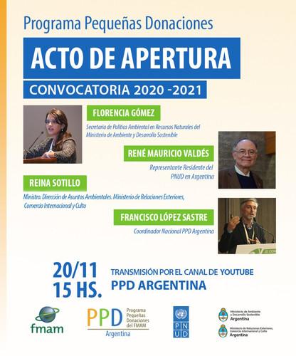 Acto de Apertura Convocatoria 2020-2021