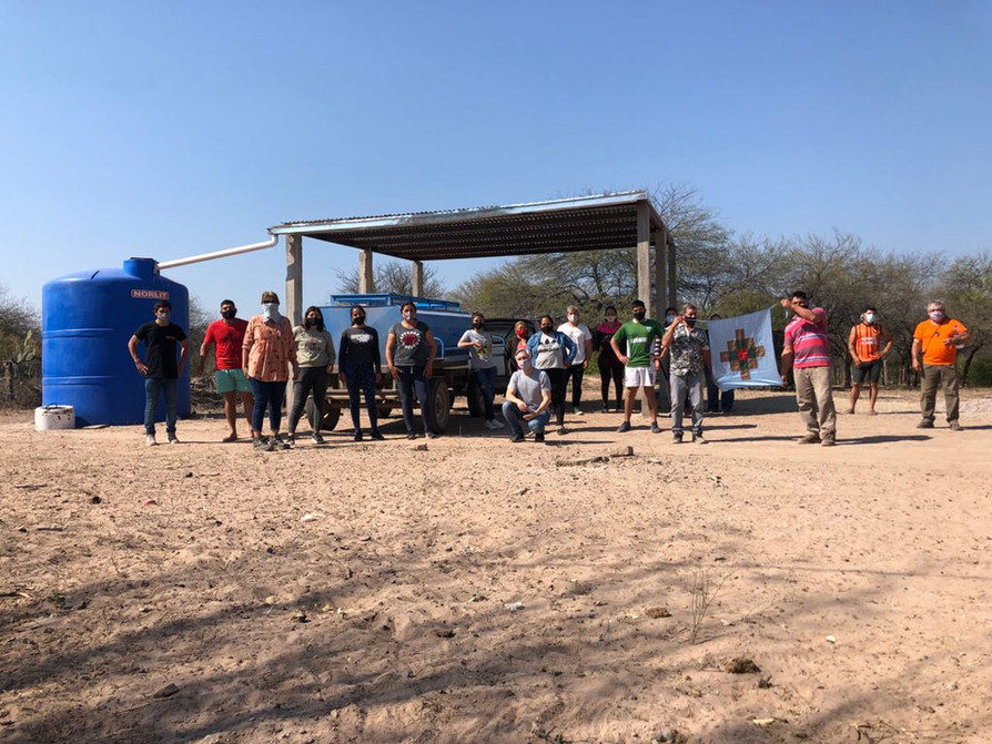 """Visita a la COMUNIDAD INDÍGENA YAKU MUCHUNA DEL PUEBLO TONOKOTÉ LLUTQUI"""" en el Paraje San Felipe, Localidad de Bandera Bajada, provincia de Santiago del Estero."""