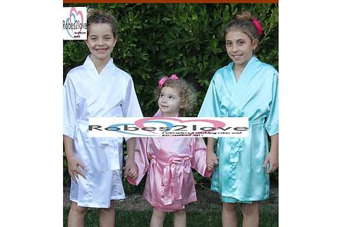 Plain Satin Childrens Robes
