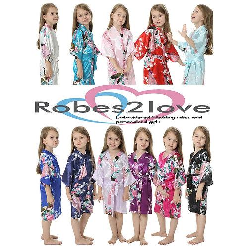 Paradise Children's Satin Robes