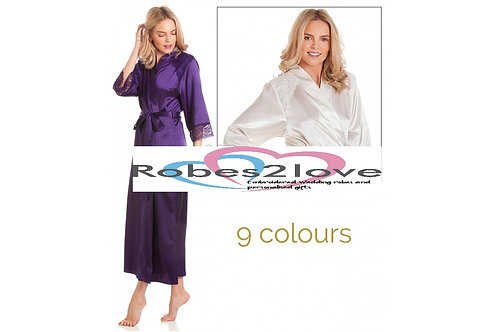 London Satin and lace long Robes