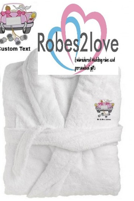 YOUR OWN CUSTOMISED ROBE 100% LUXURY COTTON VELOUR