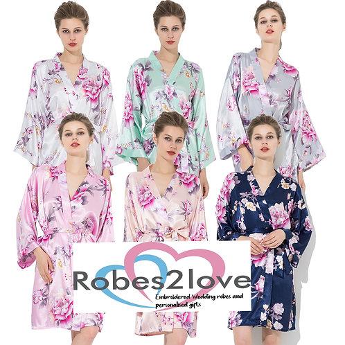 Parisian Floral satin robes