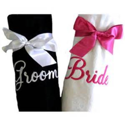 Bride and Groom Hand towels