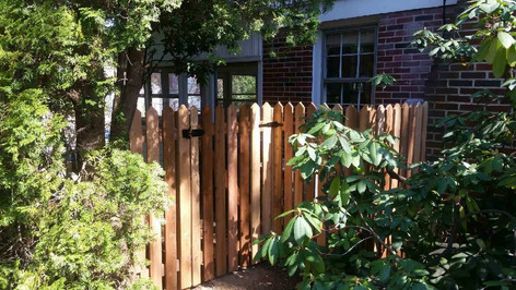 Fence Contractor. Picket Fence. Cedar Fence. Wooden Fence.