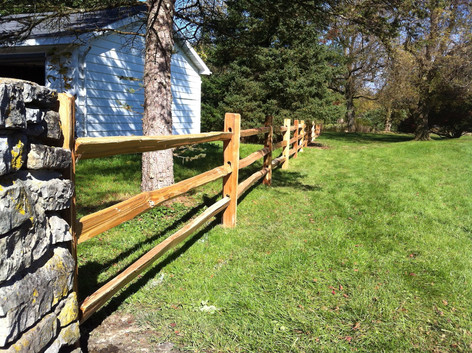 Split-Rail Fence. Fence Contractor