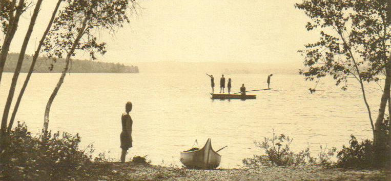 Swimmers on Long Lake
