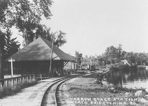 Narrow Gauge Station North Bridgton Postcard