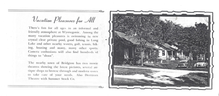 Advertisement for the Wyonegonic Inn