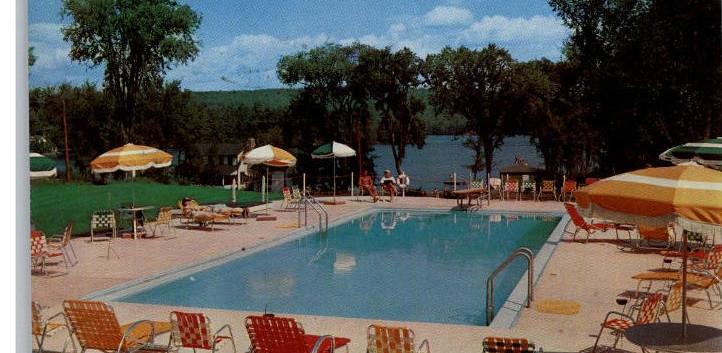 Pool at Wyonegonic Inn Postcard