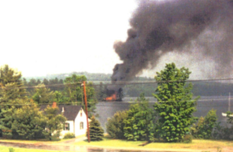 Fire on Bells Point